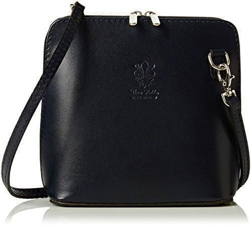 Oferta: 32.4€. Comprar Ofertas de Girly Handbags - Bolso cruzados de Piel para mujer, sintético, azul marino, W 17, H 17, D 8 cm (W 6, H 6, D 3 inches) barato. ¡Mira las ofertas!
