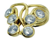 shapely White CZ Gold Plated White Ring wholesales US 6789