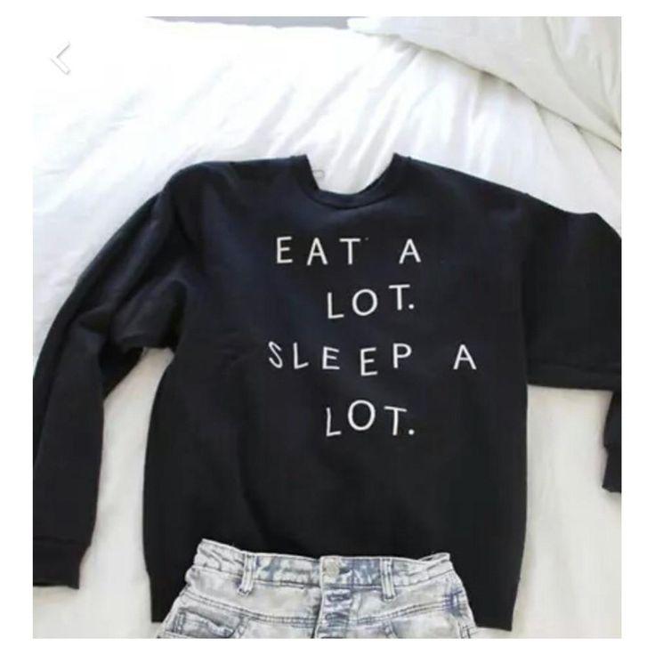 Essen Sie viel Schlaf viel Frauen Sweatshirts