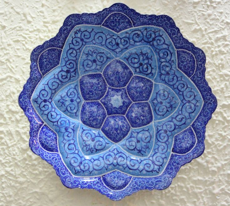 Plato de cobre esmaltado Iran