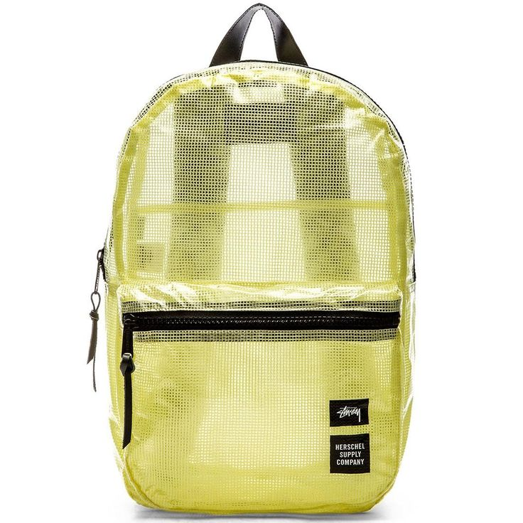 Stussy x Herschel Supply Co Dawson Backpack - Clear Tarp Collab white clear