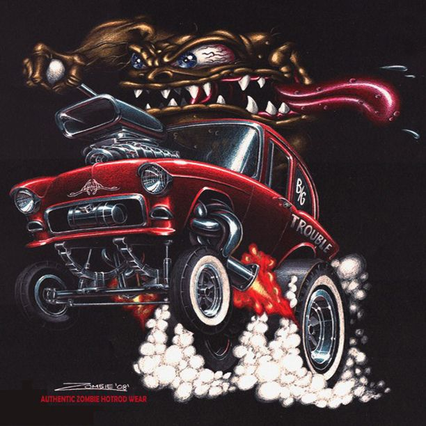 17 Best Images About Hot Rod Art Drawings/Prints/Pics On