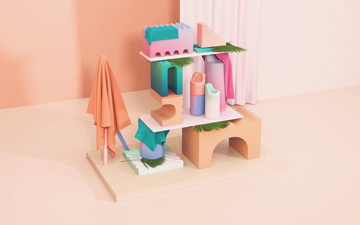 Colourful 3D Forms by Adriana Mora Martínez See more: http://mindsparklemag.com/design/colorful-3d-forms/  More news: Like Mindsparkle Mag on Facebook