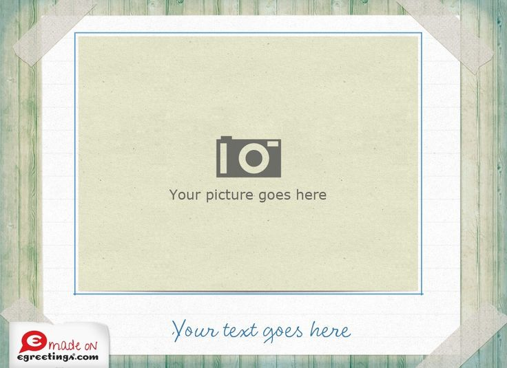 Picture Frame (Make Your Own Photo)