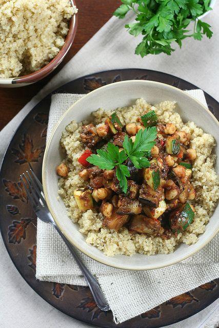 Quick Ratatouille on Quinoa   The Healthy Foodie