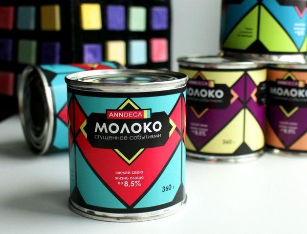 sweet Russian milk by Anne Deca, via Behance This is milk (like condensed) #packaging PD