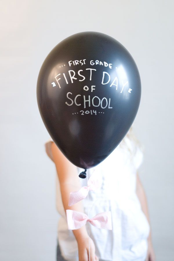 First Day of School Balloon Pictures!