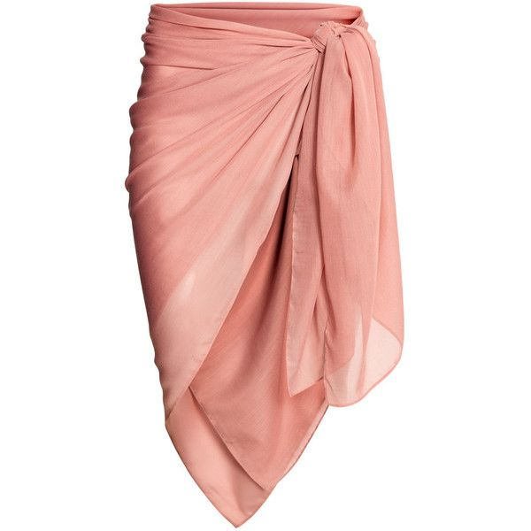 Sarong $6.99 ($6.99) ❤ liked on Polyvore featuring swimwear, cover-ups, skirts, beach, sarong cover ups, beach swimwear, pink swimwear, beach sarong cover ups and beach wear
