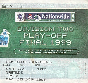 Wembley 99. City vs Gillingham. Will forever be my greatest City moment.