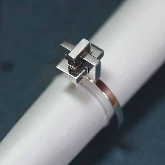 OCC Puzzle Ring シルバー パズルリング10号