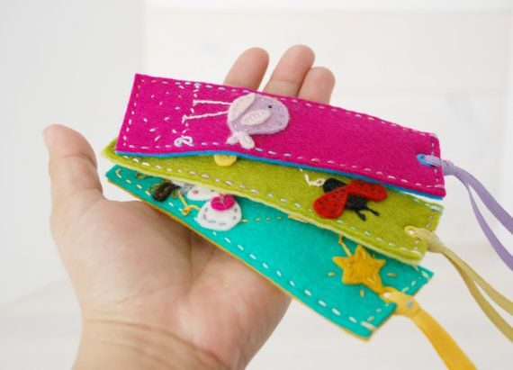 Wool Felt Bookmark  Handmade Bookmarks   100 by YouniquesRings