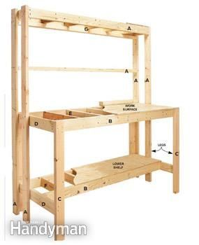 How to Build a Workbench: Super Simple $50 Bench - Step by Step: The Family Handyman