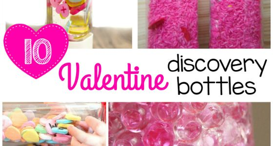 Use these 10 ideas to create discovery bottles for a Valentine theme for preschool, pre-k, or kindergarten.