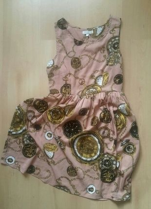 Kup mój przedmiot na #vintedpl http://www.vinted.pl/damska-odziez/krotkie-sukienki/12235560-romantyczna-sukienka-vintage-stare-zegary-wzor