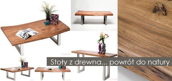 W designie mocno zaznaczył się nowy, bardzo ciekawy trend - meble z masywnego drewna. Drewniane stoły, ławy, komody, w których celowo eksponuje się nierówności, sęki i słoje - to modny teraz i niebanalny sposób na powrót do natury. Do przestronnych, często otwartych pomieszczeń wnosi on ciepło, daje poczucie łączności z naturą, buduje pozytywny klimat. Projektanci sięgają po nie chętnie, choć oczywiście nie da się całkowicie odciąć od dotychczasowych rozwiązań.