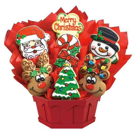 Merry Christmas Cookie Bouquet | Cookies by Design