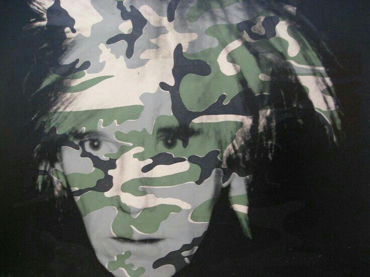 Andy Warhol ( Artist ), Camouflage  Self - portrait,  1986
