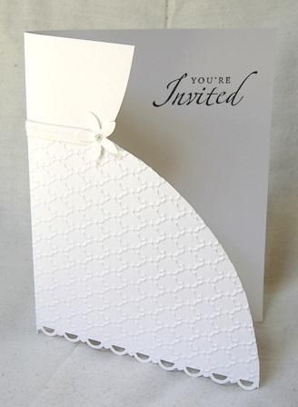 Handmade Invitations Wedding Dress