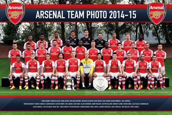 Arsenal Londyn Zdjęcie Drużynowe 14/15 - plakat - 91,5x61 cm  Gdzie kupić? www.eplakaty.pl