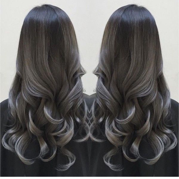 25 best ideas about silver ombre hair on pinterest - Couleur gris charcoal ...