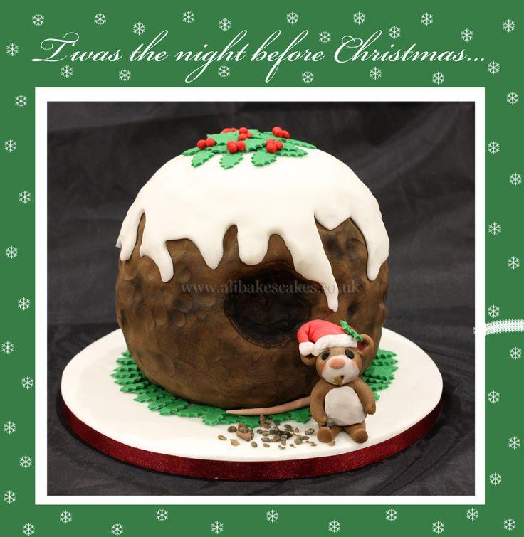 Nibbled christmas pudding cake