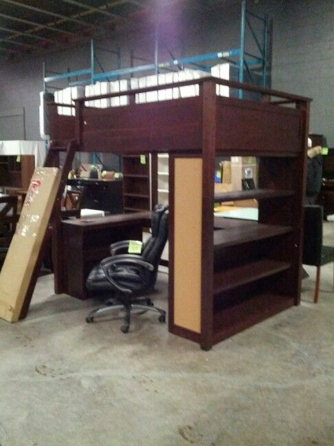 Double Bunk Bed With Desk Underneath Bunkbedideas Bed Pinterest
