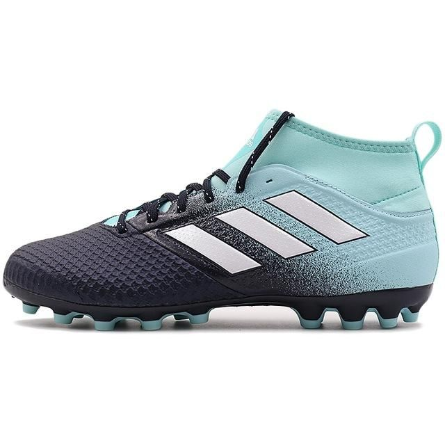7bda419966047 Zapatillas Adidas ACE 17.3 AG Originales para fútbol celeste con negro y  rallitas blancas