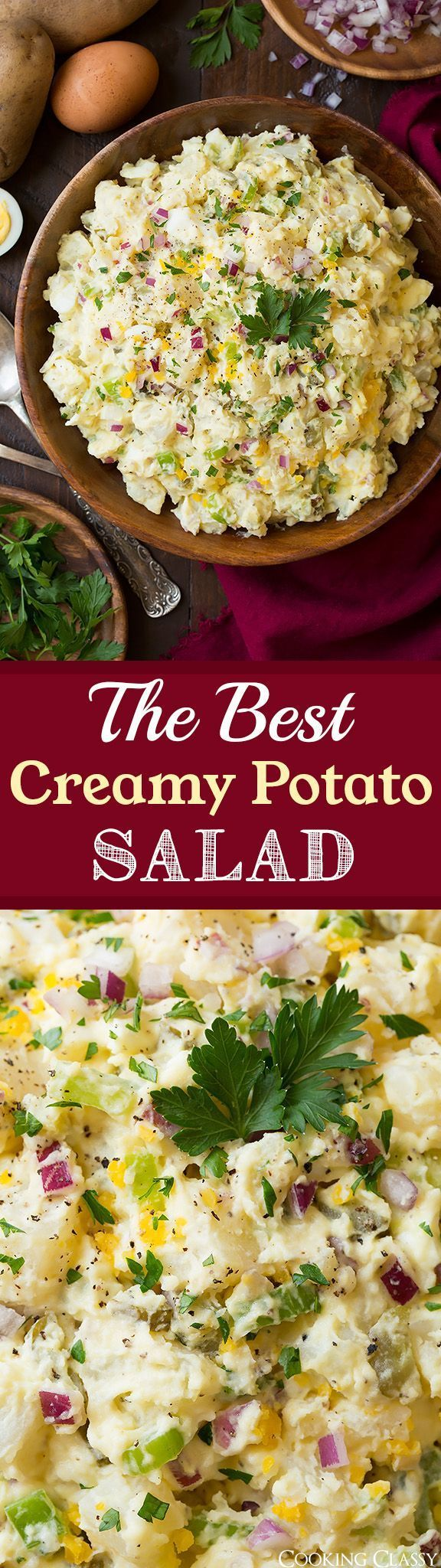 The BEST Creamy Potato Salad! This is my all time favorite recipe for the classic potato salad! A summertime staple.