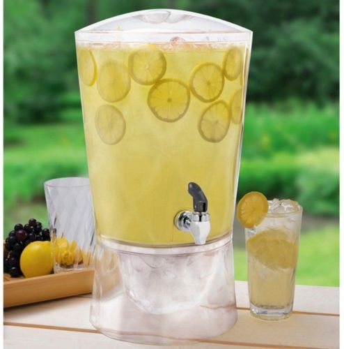 Pitchers 115729: Beverage Dispenser With Spigot 3 Gallon Drink Ice Party Stand Jar Outdoor Indoor -> BUY IT NOW ONLY: $31.47 on eBay!
