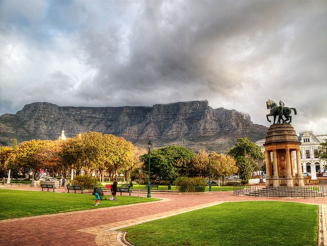 Table Mountain from Cape Town, South Africa. See our must do's for Cape Town, South Africa. -Travelationship