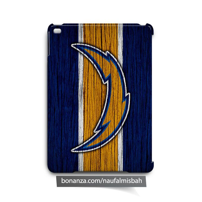 Los Angeles Chargers on Wood iPad Air Mini 2 3 4 Case Cover