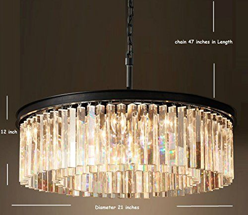 Lumos luxury modern crystal chandelier pendant ceiling for Modern crystal chandelier for dining room