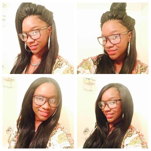 crochet braids with a knotless part outre x pression dominican blowout ...