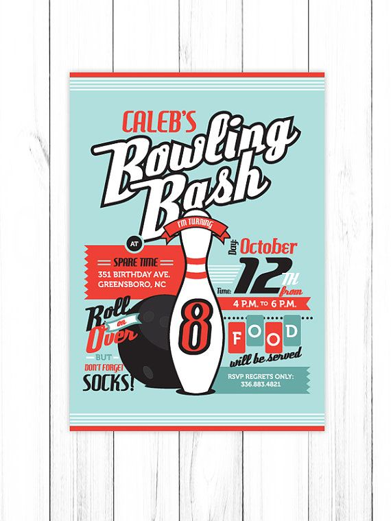 8 best Bu0027day party ideas images on Pinterest Birthdays, Birthday - bowling invitation template
