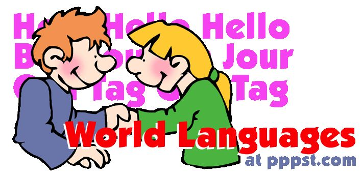 World Languages - FREE Presentations in PowerPoint format, Free Interactives and Games