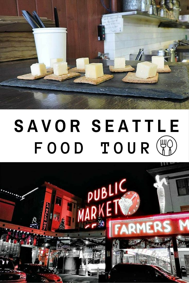 Eat your way around Pike Place Market in Seattle whilst Savor Seattle Food Tours fills your brain with facts and belly with delicious food!