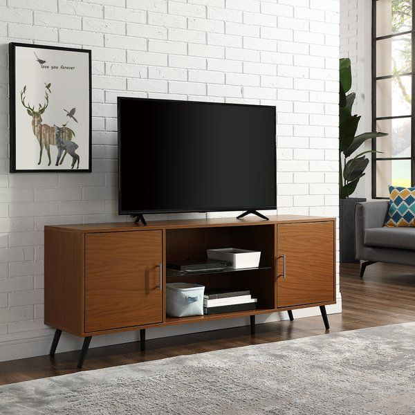 Glenn Tv Stand For Tvs Up To 65 Living Room Modern Modern Furniture Living Room Mid Century Modern Living Room