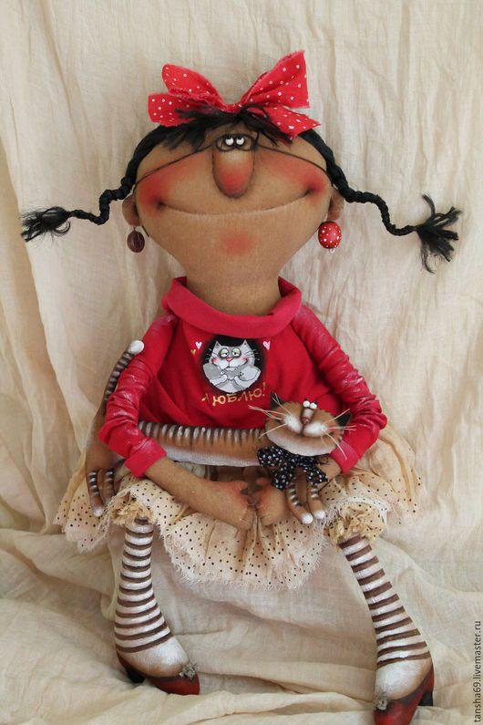 Коллекционные куклы ручной работы. Ярмарка Мастеров - ручная работа. Купить Кисонька!. Handmade. Комбинированный, ароматизированная кукла, котик, синтепух