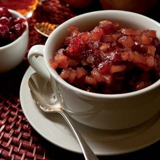 Pear-Cranberry Chutney  Makes a great topping for pork, fish or chicken.