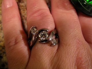 """Grant proposed with our """"Meghan"""" titanium ring. A stunning, statement-making triple tension setting titanium ring. <3"""