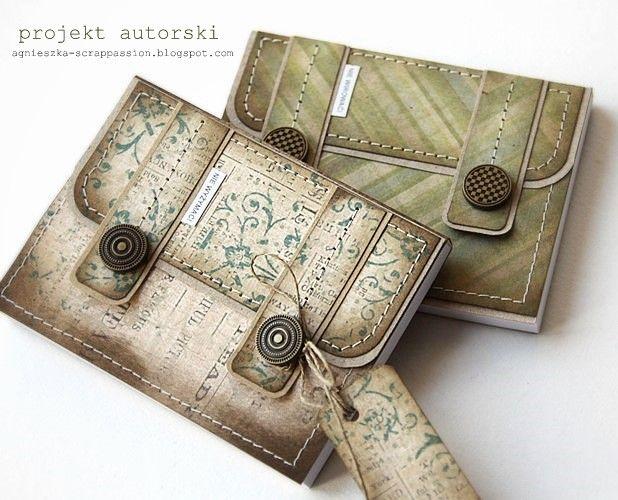 Notizblock oder Karte als Koffer - süße Idee.
