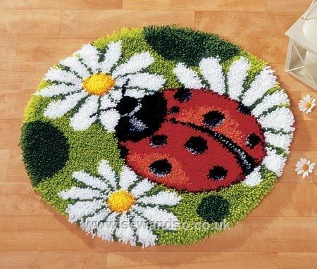 Ladybug Latch Hook. If my grandma was alive i would make her this She would loved it :-)