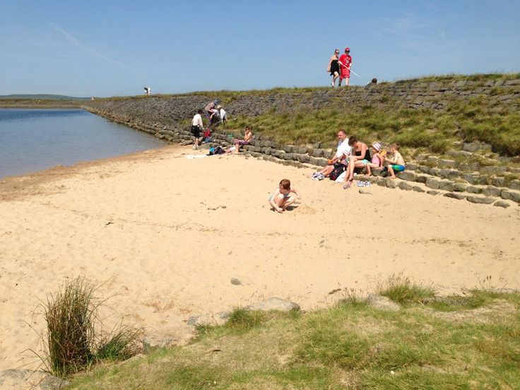 7 July 2013. Costa del West Yorkshire!  Swimming at the lovely Gaddings Dam today.
