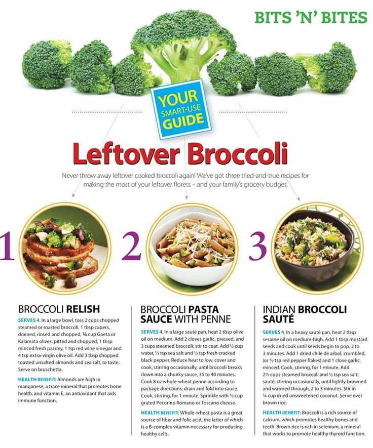 3 Ways to use Leftover Broccoli | ecogreenlove
