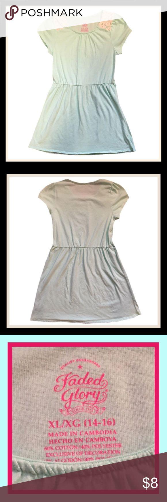 FADED GLORY Girl's Dress ➡️Gently used FADED GLORY girl's short sleeve casual dress.                                                                       ➡️Size XL (14/16)                                                                                                                          ➡️BUNDLE AND SAVE Faded Glory Dresses