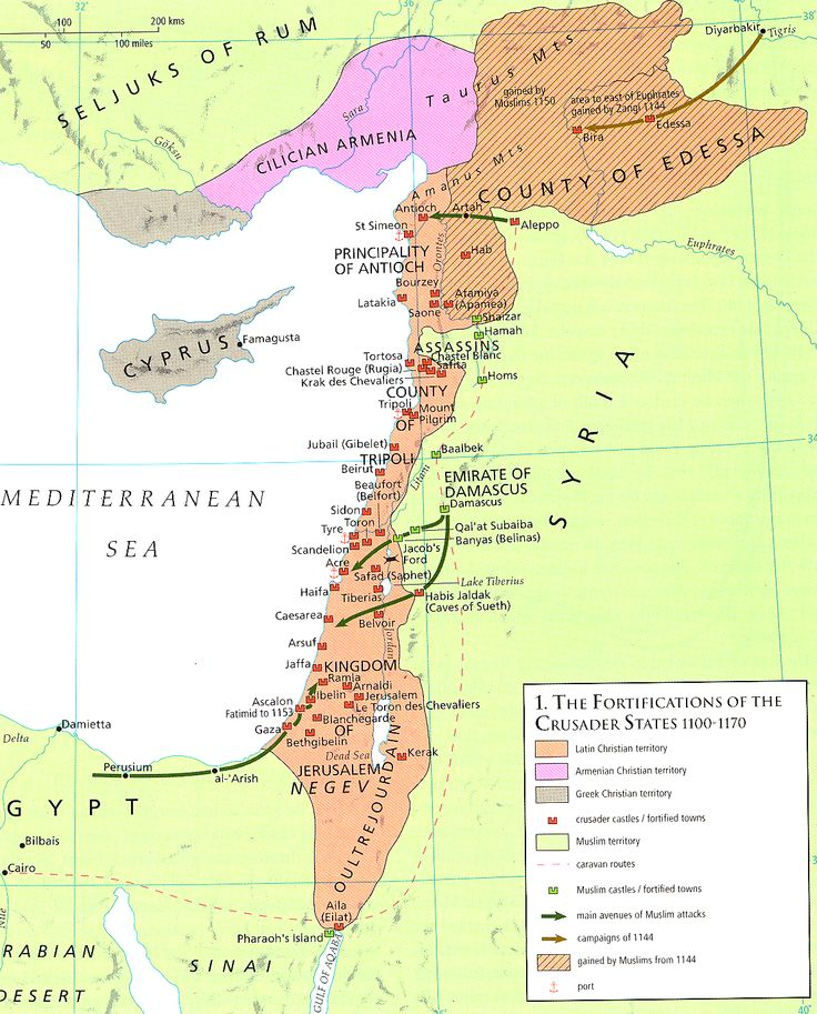 Castles of the Crusader States 1100-1170