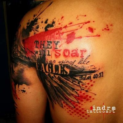 rollovertattoo Indonesia: wings trash polka tattoo, tattoo jakarta
