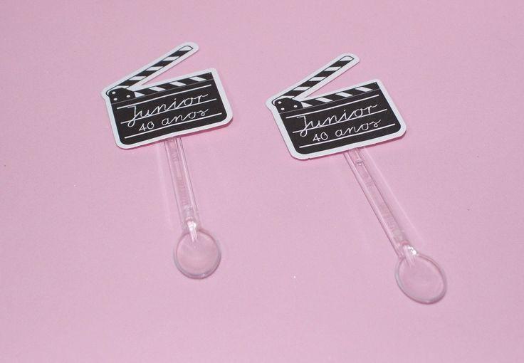 Mini colher Claquete - Festa Cinema