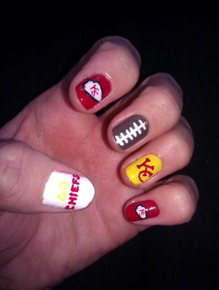 Nice Kc Chiefs Nail Art Pattern - Nail Art Ideas - morihati.com