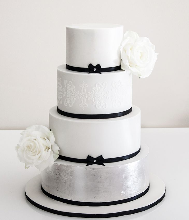 47 best Wedding cake ideas metallic images on Pinterest